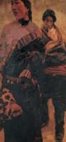 陈逸飞 1998年作 藏族情侣 布上油彩 - 陈逸飞 - 西洋美术 - 2006秋季大型艺术品拍卖会 -中国收藏网