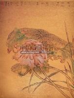 花韵系列二 镜心 设色金笺 -  - 中国油画 闽籍书画 中国书画 - 2008秋季艺术品拍卖会 -收藏网