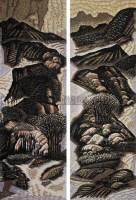 家乡山水一二 (两幅) 纸本 绝版木刻 -  - 中国油画 - 2008年夏季拍卖会 -收藏网