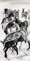 黄胄  群驴图 -  - 中国书画 - 广东宝通拍卖公司艺术精品拍卖会 -中国收藏网