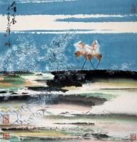 太湖春晨 立轴 设色纸本 - 韩天衡 - 中国近现代书画 - 2007春季艺术品拍卖会 -收藏网