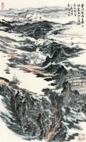 东岭千重图 立轴 设色纸本 - 116006 - 浙江四大家专场 - 2011年春季艺术品拍卖会 -收藏网