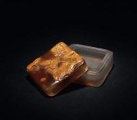 玛瑙雕莲池水禽图方盒 -  - 瓷器工艺品 - 唐颂雅集2011秋季拍卖会 -收藏网