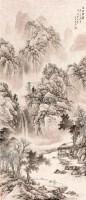 溪山书屋 镜心 水墨纸本 - 128322 - 中国当代水墨 - 2011年春季拍卖会 -收藏网