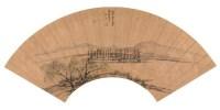 蔡泽 庚申(1680年)作 柳岸春晓 扇面 - 140242 - 中国古代书画 - 2006秋季拍卖会 -收藏网
