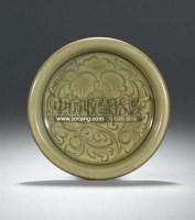 A RARE CARVED'YAOZHOU'CELADON DISH -  - 中国瓷器工艺品 - 2011春季拍卖会 -中国收藏网