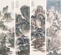 四时山水 镜心 设色纸本 - 石进旺 - 中国书画专场 - 2007年春季拍卖会 -收藏网