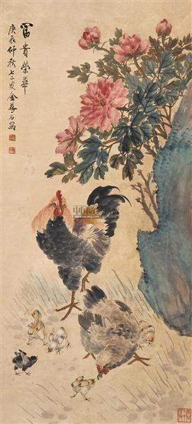 富贵荣华图 立轴 设色纸本 - 118901 - 中国书画 - 2009春季拍卖会 -收藏网