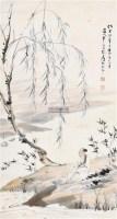 柳下高士 镜心 纸本设色 - 116070 - 中国书画专场 - 2011秋季拍卖会 -收藏网