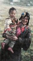 南海岩 藏区牧民 镜心 设色纸本 - 南海岩 - 中国书画 - 2006金秋艺术精品拍卖会 -收藏网