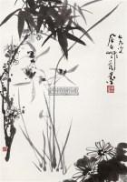 四君子 立轴 水墨纸本 - 蒋风白 - 中国书画(一) - 2011年夏季拍卖会 -收藏网