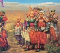 艳阳天 布面 油画 - 68928 - 油画、雕塑、版画暨广东油画、水彩 - 2006冬季拍卖会 -收藏网