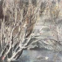 秋景 镜心 设色纸本 - 张志中 - 中国书画 - 2005秋季艺术品拍卖会 -中国收藏网