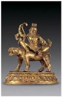 铜鎏金大成就者像 -  - 佛像唐卡 - 2007春季艺术品拍卖会 -收藏网