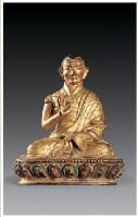 铜鎏金上师像 -  - 佛像唐卡 - 2007春季艺术品拍卖会 -收藏网
