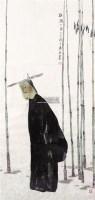 板桥小像 镜心 设色纸本 - 119214 - 关东名家书画专场(三) - 2011秋季艺术品拍卖会 -收藏网
