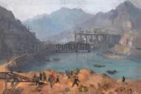 胡善余 1959年作 水坝清晨 - 胡善余 - 中国油画雕塑 - 2006秋季拍卖会 -收藏网