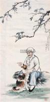 讲故事 镜心 设色纸本 - 孙菊生 - 中国书画 - 第53期精品拍卖会 -收藏网
