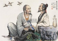 东坡与佛印 镜心 设色纸本 -  - 中国近现代书画 - 2006冬季拍卖会 -收藏网