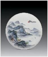 """""""双帆远影""""瓷盘 - 158017 - 中国当代名家陶瓷 - 2007秋季拍卖会 -收藏网"""