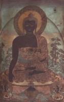 清中期 五彩织锦黑唐卡 -  - 妙音天籁-佛教艺术品 - 2006年秋(十周年)拍卖会 -收藏网
