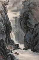 周南平 深山双虎 - 周南平 - 字画下半专场(拍号401—758) - 2008年冬季艺术品拍卖会 -收藏网