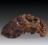 钟馗送福竹根雕 -  - 文玩杂项专场 - 2011年秋季艺术品拍卖会 -收藏网