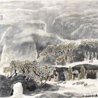 山水 镜框 纸本 - 程振国 - 大众典藏 - 2011年第六期大众典藏拍卖会 -收藏网