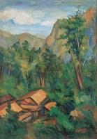 风景 布面油画 - 孙多慈 - 中国油画及雕塑 - 2005秋季拍卖会 -收藏网