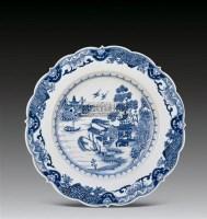 青花柳燕亭台纹癸口盘 -  - 中国瓷器、杂项 - 2011夏季艺术品拍卖会 -收藏网