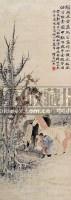 浴马图 立轴 纸本 - 任熊 - 中国近现代书画专场 - 2008迎春艺术精品拍卖会 -收藏网