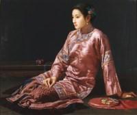 闲情 布面油画 - 149144 - 油画专场 - 2011首届秋季艺术品拍卖会 -收藏网