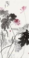 荷花 镜心 设色纸本 - 陈子林 - 中国书画二 - 2011年春季艺术品拍卖会 -收藏网