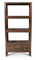 清 红木书架 -  - 明清古典家具 - 2007春拍瓷器雅玩家具拍卖 -收藏网