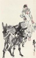 牧憇 镜片 设色纸本 - 7693 - 中国书画(一) - 2011年秋季艺术品拍卖会 -收藏网