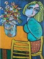 尤绍曾 红裙女 压克力画布 -  - 中国当代艺术(一) - 2007春季拍卖会 -收藏网