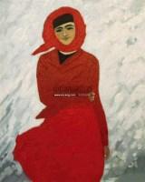 红衣少女 布面油画 -  - 老油画·中国书画·新钢笔画 - 2011春季艺术品拍卖会 -收藏网