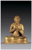 铜鎏金上师像 -  - 佛像唐卡 - 2007春季艺术品拍卖会 -中国收藏网