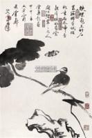 花鸟 镜心 水墨纸本 - 卢坤峰 - 中国书画 - 2006年迎春拍卖会 -收藏网