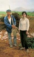 王少伦 2006年 收工 布面 油画 - 王少伦 - 中国油画及雕塑 - 2006秋季拍卖会 -收藏网