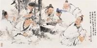 竹林七贤 镜心 设色纸本 - 王茂飞 - 中国书画 - 2006秋季拍卖会 -收藏网
