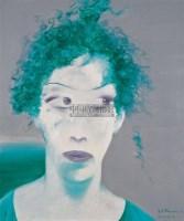 假发 布面 油画 - 156699 - 名家西画 当代艺术专场 - 2008年秋季艺术品拍卖会 -收藏网