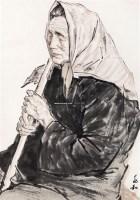 妇人 镜心 纸本 - 116126 - 中国书画 - 2011春季艺术品拍卖会 -收藏网