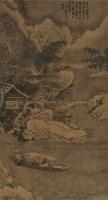 雪夜泛舟图 立轴 绢本 - 116944 - 开元——中国古代书画珍品夜场 - 首届艺术品拍卖会 -收藏网