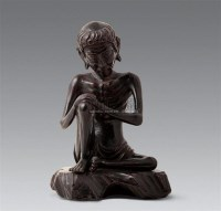 清木雕跌坐造像 -  - 中国古代工艺美术 - 2007年仲夏拍卖会 -中国收藏网