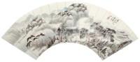 """山水扇面 镜片 设色纸本 - 6128 - 名家书画 - """"湖湘三百年""""名家书画拍卖会 -中国收藏网"""