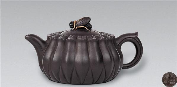 现代 紫砂菊瓣壶 -  - 中国书画紫砂茗壶 - 2006年秋季拍卖会 -中国收藏网