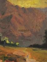 山水风景 布面油画 - 21493 - 油画之光—油画专场 - 北京康泰首届艺术品拍卖会 -中国收藏网