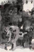石虎 人物 镜心 纸本 - 88994 - 中国书画(二) - 2006年第4期嘉德四季拍卖会 -收藏网