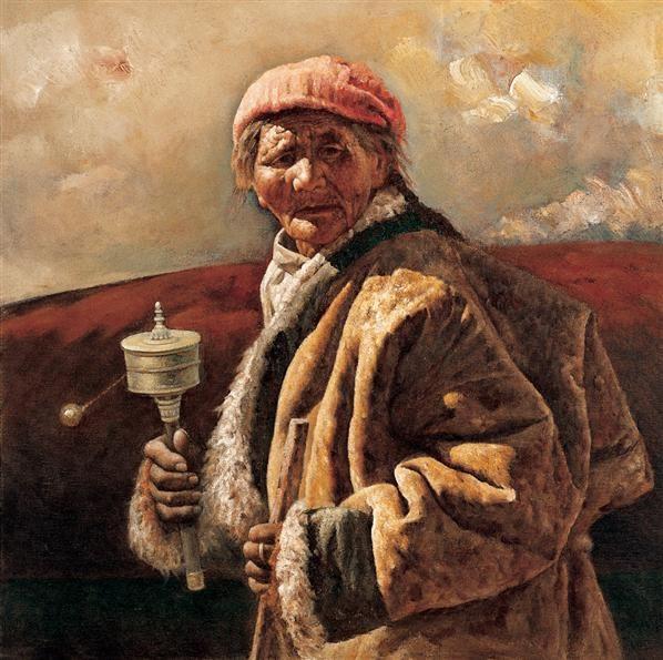 耿万义 信念 布面 油画 - 127193 - 油画 - 2006年金秋珍品拍卖会 -收藏网